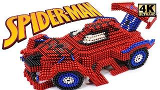 DIY Cara Membuat Mobil Spider Man Dari Bola Magnet (Kepuasan) | Dunia Magnet 4K