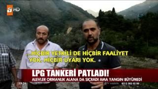 Tirebolu Aslancık köyü altında tanker kazası