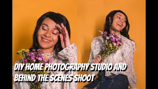DIY Home Photography Studio And Behind The Scenes Self-Portrait Shoot!