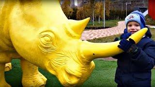 Прогулка в парке Буратино. Животные для детей.