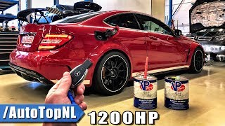 1200HP Mercedes C63 AMG BLACK SERIES REVIEW POV on AUTOBAHN by AutoTopNL