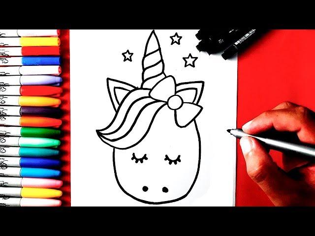 Como-desenhar-unicornio-fofinho