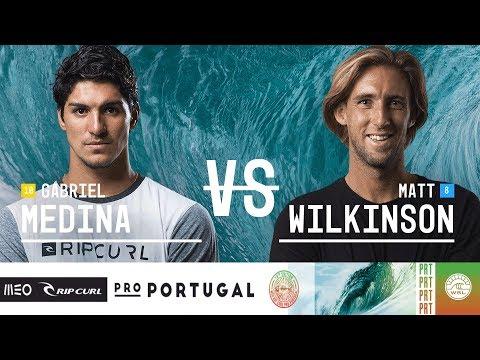 Gabriel Medina vs. Matt Wilkinson - Quarterfinals, Heat 2 - MEO Rip Curl Pro Portugal 2018