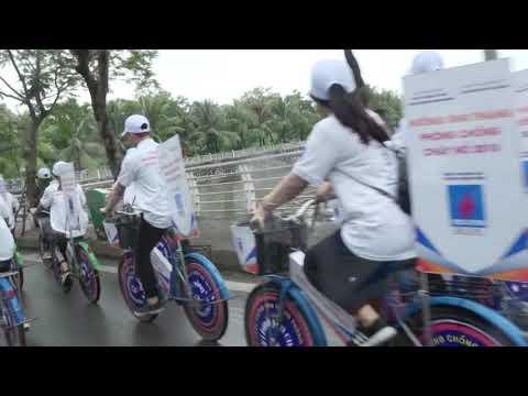 Đạp xe diễu hành Tháng Phòng chống cháy nổ