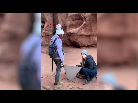 Een Video Toont Een Vreemd Wezen Vlak Bij De Utah Monolith Site