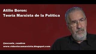 ATILIO BORON: TEORÍA MARXISTA DE LA POLÍTICA
