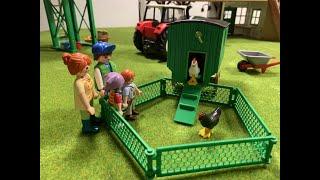 Wir Playmobil Kinder vom Apfelgarten -2- Die Hühner sind los - Bauernhof