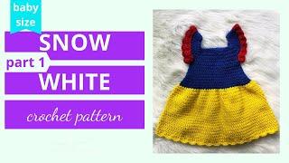 Crochet Snow White Dress Tutorial (part 1 Of 2)