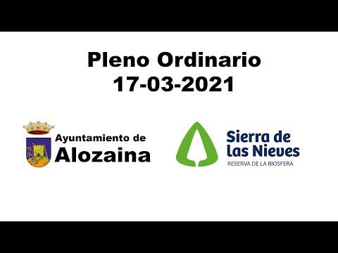 PLENO ORDINARIO 17-03-2021