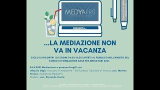 Anteprima video Mediazione civile e persone fragili con... la dott.ssa Alessia Gigli, avv. Matteo Frezza e avv. Riccardo Conte