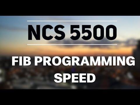 NCS5500 Programming Speed
