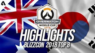 Team South Korea vs Team Australia | Overwatch World Cup 2018 Quarterfinals Highlights
