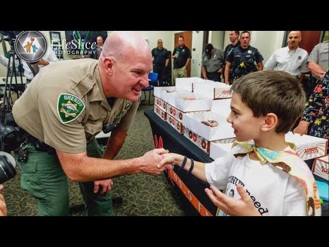 Why This 8-Year-Old Boy Wants To Bring Every Police Officer Doughnuts