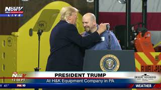 PRESIDENT IN PA: Trump makes comments at H&K Equipment (FNN)