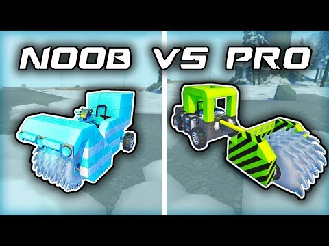 NOOB vs PRO: Snow Removal Machine Challenge (Scrap Mechanic Gameplay)
