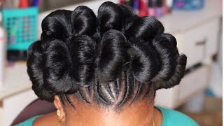 QUICK AND ➟ VERY EASY HAIR  UPDO