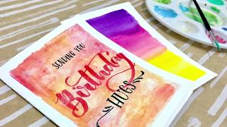 Easy DIY Watercolor Card Tutorial- Step By Step Handmade Valentines / Birthday Card Tutorial