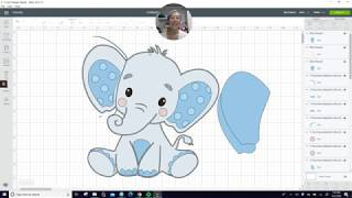 DIY Elephant For Baby Shower Or Party Decor Off The Mat Tutorial For The Cricut