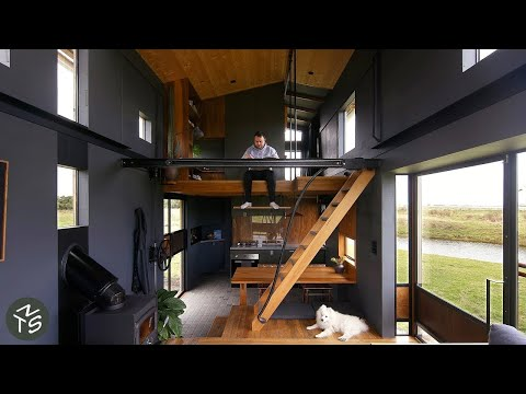 Tiny Passive Home Saves And Creates Space With An Expandable Roof And Multifunctional Furniture