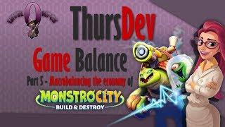 ThursDev: Game Balance Part 5 - Macrobalancing The Economy Of MonstroCity: Build & Destroy