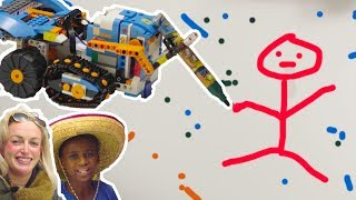 LEGO Boost DRAWING ART CHALLENGE! Vernie, MTR4 Creative Ideas & Programming Instructions Coding Toys
