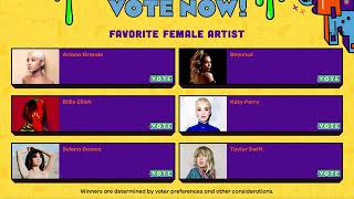 Voting for 2020 Kids Choice Awards