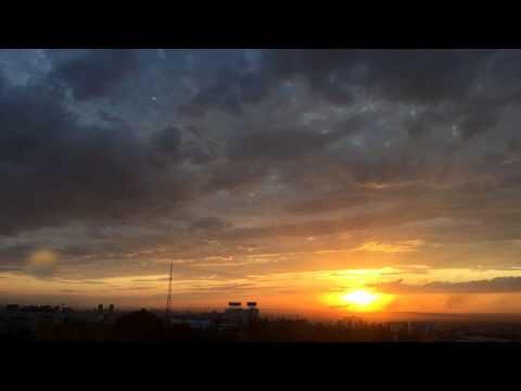 Закат солнца. Алматы (видео)