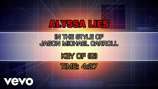 Jason Michael Carroll   Alyssa Lies (Karaoke)