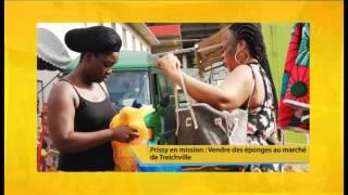 C'Midi Prissy En Mission Vendre Des éponges Au Marché De Treichville