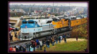 12/6/2018: George H. W. Bush Funeral Train (P-WFCS1-06) @ MP71.23 - FM2818 og; College Station, TX