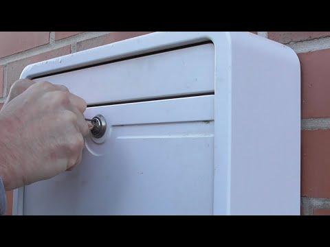 Briefkasten ohne Schlüssel öffnen / / Briefkastenschloss mit Büroklammer knacken – Video Anleitung