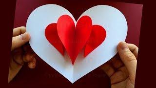 Pop Up Karte: Herz ❤  Basteln mit Papier ❤ Bastelideen Muttertag ❤ DIY Geschenke selber machen