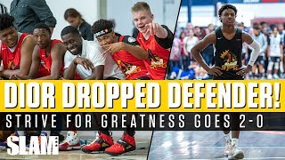 LeBron James watches Dior Johnson DROP DEFENDER!? Strive For Greatness goes 2-0 👀