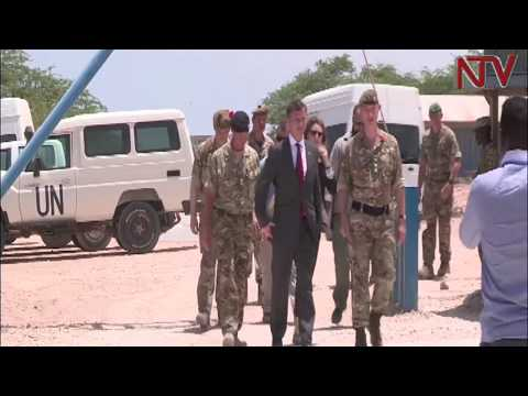 UK armed forces minister pays tribute to the AU troops in Somalia
