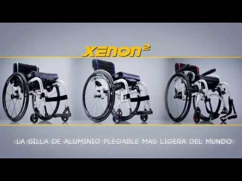 Quickie Xenon 2 – Silla de ruedas de aluminio plegable ultraligera