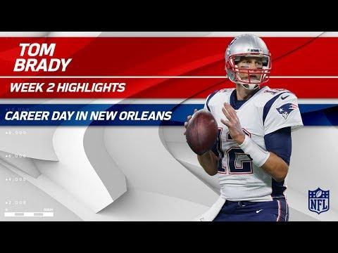 Tom Brady's 447-Yard, 3 TD Day vs. New Orleans! | Patriots vs. Saints | Wk 2 Player Highlights