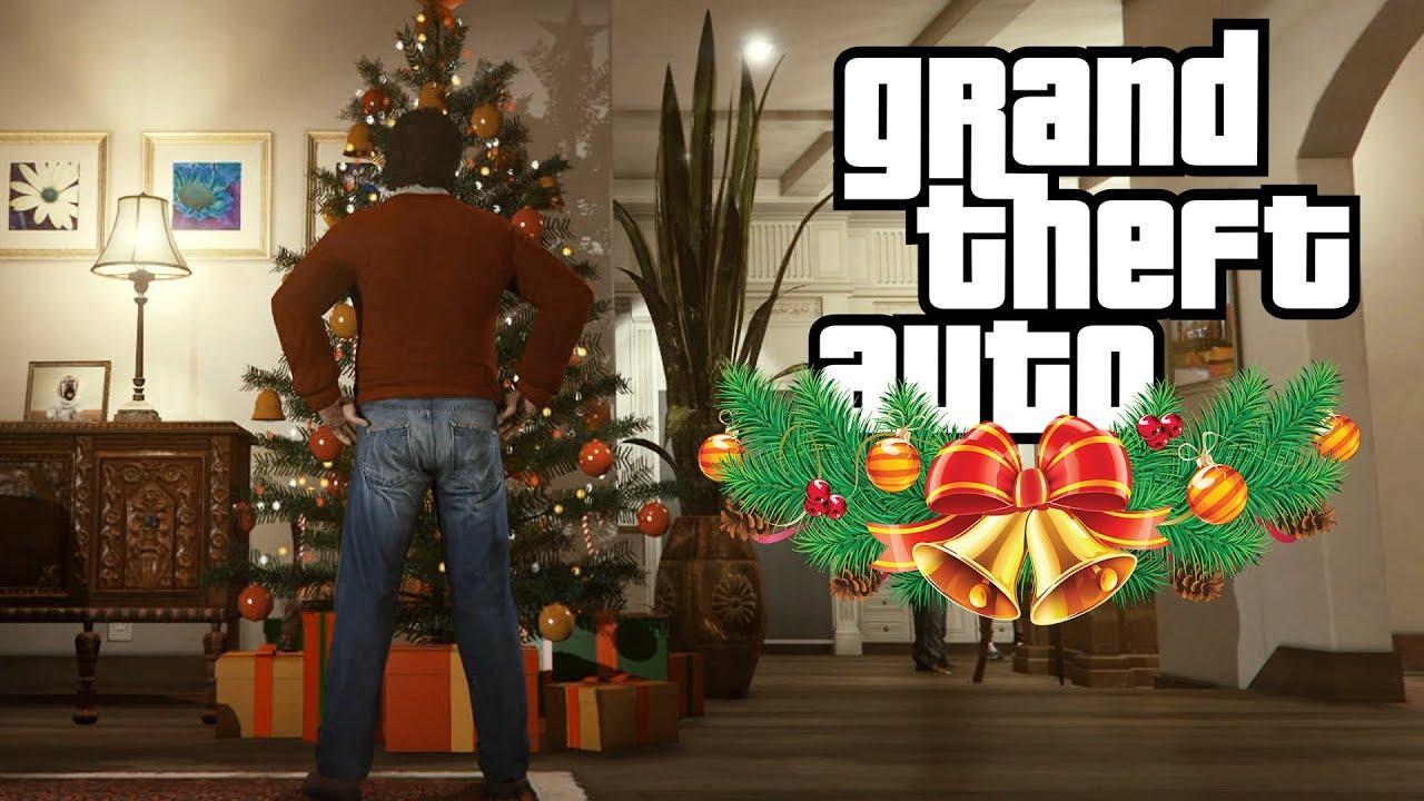 Mike And Franklin spend Xmas with Trevor (GTA V Rockstar Editor