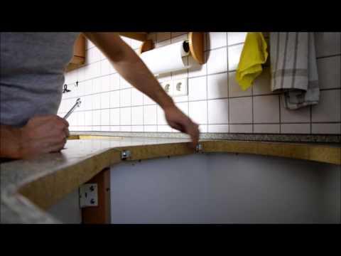 Arbeitsplatte in der Küche austauschen Küchenrenovierung Teil 13