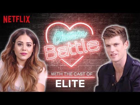 Spanish vs. English Flirting with the Cast of Elite   Charm Battle   Netflix