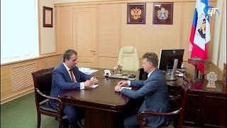 С визитом в Новгородской области находится министр транспорта Максим Соколов