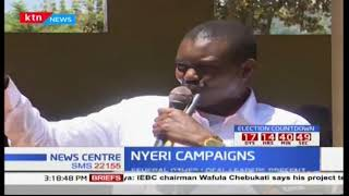 Jubilee leaders campaign in Nyeri ahead of the repeat presidential poll