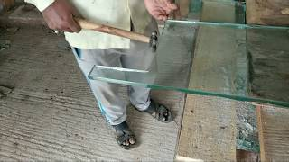 How to cut glass corner easy way at home