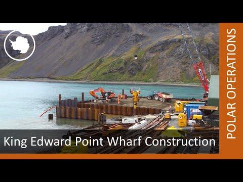Constructing a new wharf in South Georgia