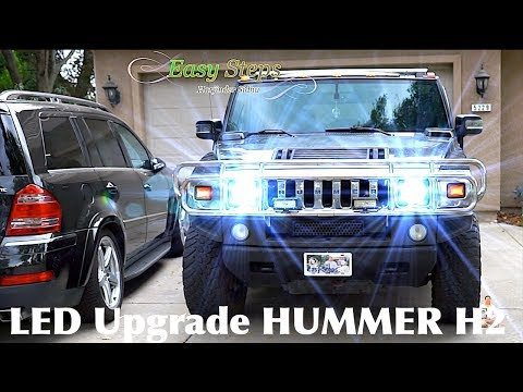 How To Replace | Upgrade HUMMER Headlights To LED Lights | H2 LED Upgrade Mp3