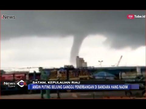 Mengerikan! Angin Puting Beliung Terjang Kawasan Bandara Hang Nadim, Batam - iNews Sore 11/12