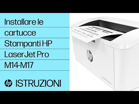 Come installare le cartucce nelle stampanti HP LaserJet Pro M14-M17