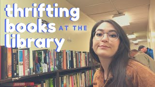 BOOK SHOPPING (Thrifting) At The LIBRARY   Paiging Through