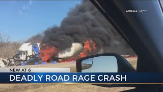 Trucker caught in the middle of deadly road rage crash