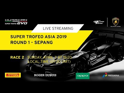 Lamborghini Super Trofeo Asia 2019 - Sepang - Race 2..