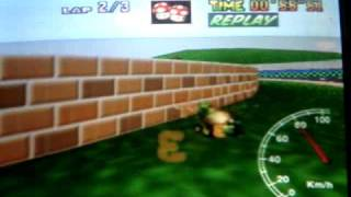 """Mario kart 64 - LR SC lap - 26"""" 02"""